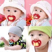 Wholesale Hot Funny Dummy Dummies Pacifier Novelty Teeth Moustache Baby Chile Soother
