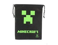 Wholesale 2015 New Minecraft Bag Backpack Creeper Draw String Sling Bag Gift Bag High Quality