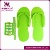Wholesale New Design Disposable Slipper EVA Foam Salon Spa Slipper Disposable Pedicure thong Slippers Free With Nail File amp Toe