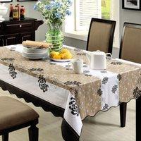 Wholesale x152cm PVC waterproof table cloth waterproof oilproof Pastoral table cloth plastic Europe type tea table cloth