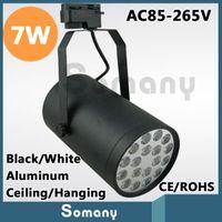 Wholesale Energy Saving Warm Cool White Black White AC85 V Ceiling Hanging Aluminum Lights Furniture Clothing Store W Led Track Light