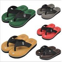 pvc sandals - 5 colors Hot New Summer Men Casual Flat Sandals Bakham Leisure Soft Flip Flops PVC Massage Beach Slipper Shoes For Men LJJC459 pairs