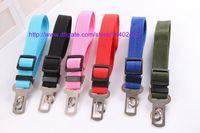 Wholesale 50pcs New Dog Pet Car Safety Seat Belt Seat Clip Seatbelt Harness Restraint Lead Adjustable Leash Travel Collar