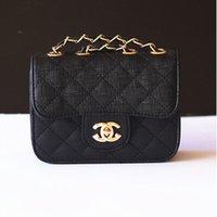 designer baby bag - New Baby Fashion Designer Lattice Lock Bags Cute Mini Girls Kids Children Party Handbags Shoulder Chain Bags LH100B