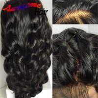 silk top full lace wigs - 4x4 Silk Base Wig Loose Wave Full Lace Wigs Human Hair Brazilian Silk Base Full Lace Wigs Glueless Body Wave Silk Top Wigs DHL Free