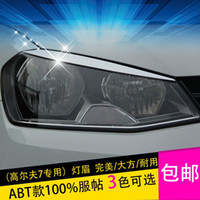 Wholesale Car Accessories ABS headlight lamp cover light eyebrow bonnet modification Lamp cover For VW Volkswagen Golf MK7