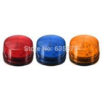 12 V Rojo Azul Naranja Seguridad flash LED Sirena Luz Alarma Strobe Señal de advertencia Envío Gratis orden $ 18Nadie pista