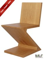 Wholesale MLF Gerrit Thomas Rietveld Zig Zag Chair Minimalist Art Design Durability Stability Flat Wooden Tiles Merged in A quot Z quot