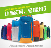Wholesale 2015 L Portable Colorful Men s Woman Sport Backpacks Travel Small Bag Students School Bag Decathlon Movement Leisure Rucksacks M226