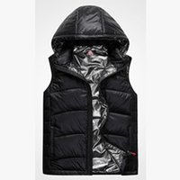 Wholesale Fall New brand men s white duck down vests men fashion vest big yards down feather waistcoat thick sports outwear coat M XL