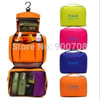 Wholesale Women portable Travel Bags Zipper Solid Travel Check cosmetic bag