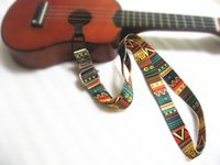 Wholesale Latest Country Style Adjustable Ukulele Neck Straps for Soprano quot Concert small guitar straps ukulele straps