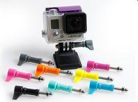 aluminum nuts bolts - sport camera screw camera accessories high quality Aluminum Thumb Knob Stainless Bolt Nut hero3 Screw color GO PRO type L SJ4000 screws