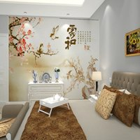 Wholesale Custom mural wallpaper TV backdrop of large living room sofa background decoration wallpaper Family Harmony