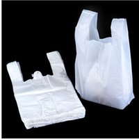 Wholesale 18 cm Transparent Bags Shopping Bag Supermarker Plastic Bags With Handle