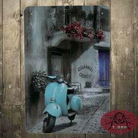 antique vespa - Vespa Scooter Classic Italian Vespa Collection Small Metal Tin Sign Picture