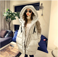 long down coat - High end Winter Warm Duck Feather New Korean Version Large Size Women Hooded Down Jacket Girls Long Section Thick Coat Outerwear Down Parkas