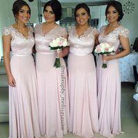 Cheap Model Pictures 2014 fall bridesmaid Best A-Line V-Neck vestidos de fiesta
