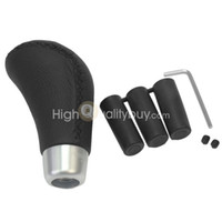 Wholesale Universal Car Auto Vehicles Shift Knob PU Leather Manual Gear Shift Lever Black