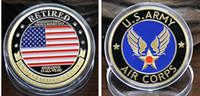 air corps - 2 The USA army air corps retired coins gold plated America force souvenir coin