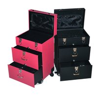 beauty trolley bag - Na girl Princess Professional Beauty tools casters Trolley Nail Salon makeup cosmetics cases