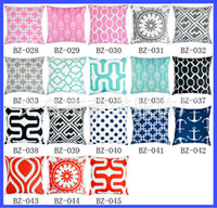 Wholesale 2015 style home sofa by printing pillowcase geometric pattern cotton pillow cover cushion cover CM pillow cover cushion cover