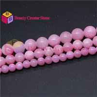 Wholesale High quality bright pink Natural Jade stone round beads mm quot strand jewelry making BCS