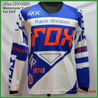 Wholesale M L XL XXL Long Sleeve Motocross Jerseys MTB downhill Cycling Jerseys Sports T shirt Motorcycle Shirt Cycling Shirt
