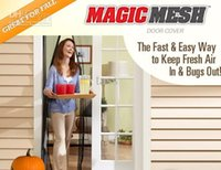Wholesale Magic Mesh Bugmesh Magnetic Door Screen Door Curtain Sheer Curtains Pet Fly Mosquito Screen Hands Free cm