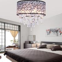 Wholesale modern Ceiling Chandeliers E14 Elegant Crystal Chandelier Light with Lights cm living room bedroom ceiling lamp lights