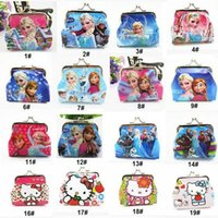 3d holiday gifts - Girls D Cartoon Frozen peppa Sofia Princess Coin Purse with iron button shell bag wallets Purses children Gifts For Holidays DHL HW