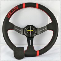 Wholesale Universal quot cm Modified car steering wheel Car steering wheel four speakers for Momo Black Gold