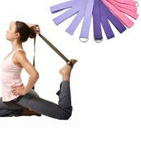 Wholesale Hot quot Yoga Stretch Strap D Ring Belt Figure Waist Leg Exercise Fitness Gym Hot