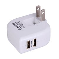 Cheap Hot Sale Dual USB wall US plug 2.4A AC Power Adapter Wall Charger Plug 2 port for LG apple usb charger