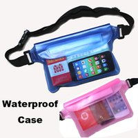 For HTC Plastic Universal waterproof pouch For Universal Waist Pack Waterproof Pouch Case Water Proof Bag Underwater Dry Pocket Cover For Cellphone mobile phone Samsung iphone money