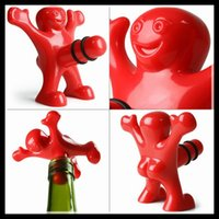 gadgets gifts - Happy Man Bottle Stopper Fashion Wine Stoppers Eco Friendly Kitchen Gadgets Bottle Sealing Tool Christmas Gifts