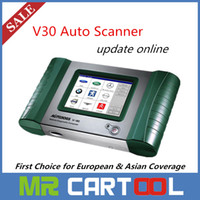 auto coverage - 2016 Sale Original autoboss v30 auto scanner First Choice for European Asian Coverage better than x431 diagun DHL FEDEX