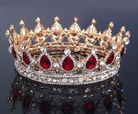 Tiaras&Crowns Rhinestone/Crystal Silver Plated NEW Royal Luxury Shining rhinestone Baroque Wedding Crowns Bridal Veil Tiara Crown Headband Hair Tiara crowns 16*5CM HH07