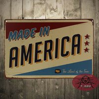 art house america - quot Made in America quot Metal Tin signs Art wall home decoration Vintage metal painting House Cafe Bar art wall decor poster CM