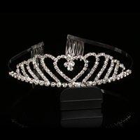 Cheap Wedding Bridal Princess Crystal Prom Hair Tiara Crown Accessories Veil Headband Combs Claws Hairpins Sticks Barrettes Bands