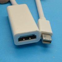 Wholesale 20pcs Mini Display Port DP to HDMI Cable Adapter Audio Video Mac mini DP TO HDMI cm