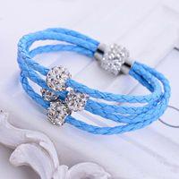 Wholesale Top Grade Infinity bracelets Hot Sale New Fashion Leather Braided Charm Bracelet for Women Girl Boy Jewelry DR