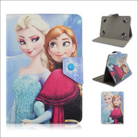 adjustable ipad case - New Adjustable Frozen Elsa Anna PU Leather Stand Case Cover For inch Tablet PC MID Samsung Galaxy Tab iPad Mini Air
