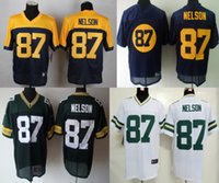multi game - NEW Jordy Nelson Jersey Stitched Packers Jerseys Cheap Size M XXXL discount football jerseys Custom Limited Elite Game Embroidery