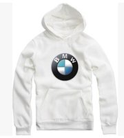 bmw logo - 1PCS Unisex White BMW Logo Fleece Long Sleeved Sweaters Unisex Men Pullover hoodies Unisex Hip hop Sweatshirts D Hooded Sweater