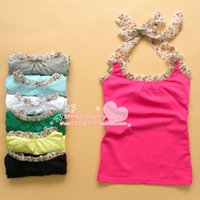 Wholesale 2055 summer women new fashion clothing candy colors sexy cute halter sleeveless t shirts ladies girls dress shirts tops