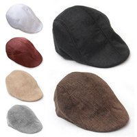 berets - Hot Sales Unisex Mens Womens Berets Vintage Flat Caps Racing Hats Flax Solid Country Golf Retro Fashion Colors PX176