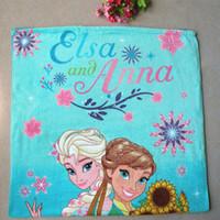 Wholesale Bath towel cm Frozen Anna Elsa towel children s bath towel Pure cotton beach towels by DHL