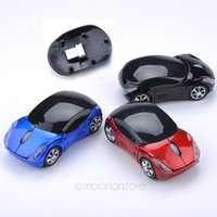 car shape wireless mouse - Car Shape USB Wirelss Optical Mouse USB Receiver GHZ Stylish Wireless Car Mice For Laptop PC Computer Retail Dropshipping DA1057