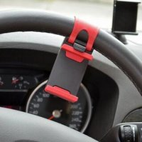 Wholesale Fashion Hot Universal Car Steering Wheel Mobile Phone Holder for iPhone S S C Galaxy S4 S5 GPS MP4 PDA